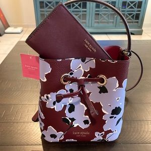 🆕 Kate Spade Eva Wildflowers bad and wallet combo